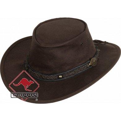 Scippis Lederen hoed Roo Walkabout bruin XL