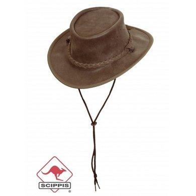 Scippis Lederen hoed Saddler bruin L