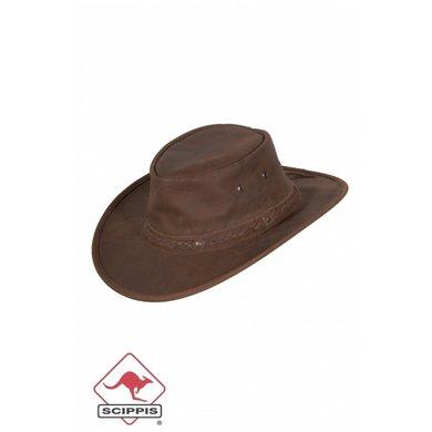 Scippis Lederen hoed Springbrook zwart XL