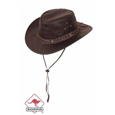 Scippis Lederen hoed Henbury bruin L