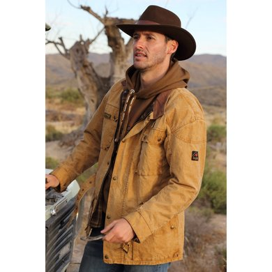Scippis Belmore Canvas Jacket Tan mustard