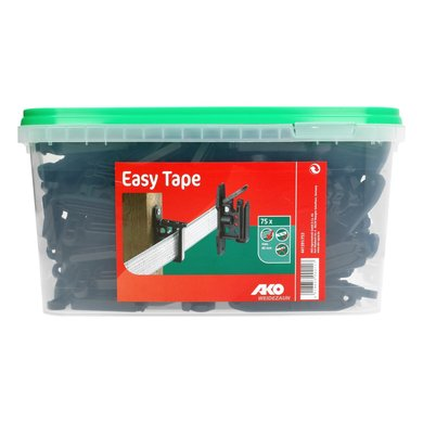 Ako Clip Insulator Easy Tape for Tapes And Ropes Black 75Pcs