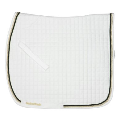 Back on Track Saddle Cloth Dressage White with PipingFull