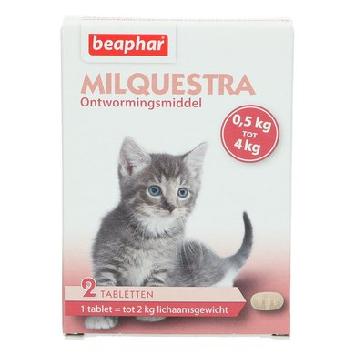 Beaphar Milquestra Wormtablet Kleine Kat/Kitten 0,5-4kg 2st