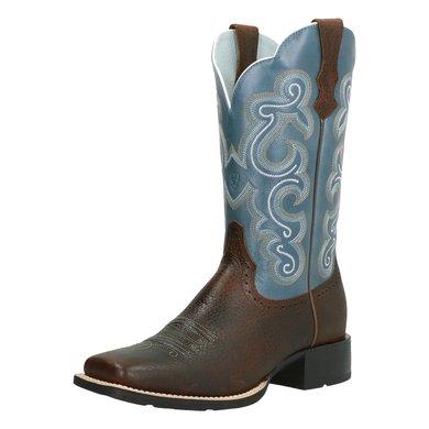Botte Western Sapphire Oiled Rowdy Brown 40 Blue Ariat Quickdraw B shdrCxQt