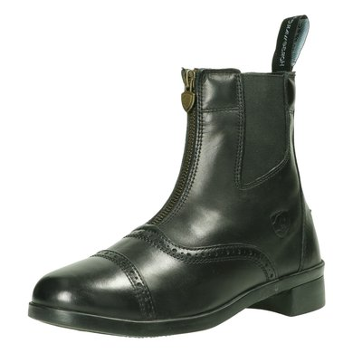Horseware Short Zip Boot Leather Kids Black 28
