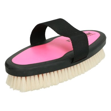 Ezi Groom Body Brush with Goat Hair Bright Pink L