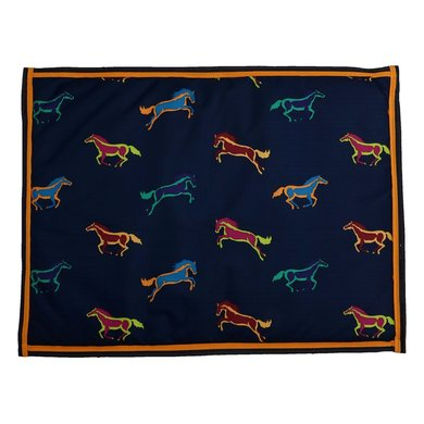 Shires Dog Bed Digby & Fox Waterproof Horse Print 80x100cm