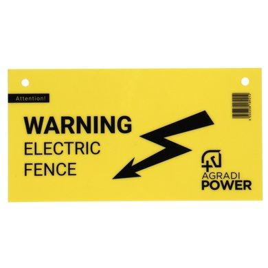Agradi Power Waarschuwingsbordje Afrastering