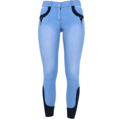 Harrys Horse Pantalon d'Équitation Belmont Full Grip Aegean-Blue 140
