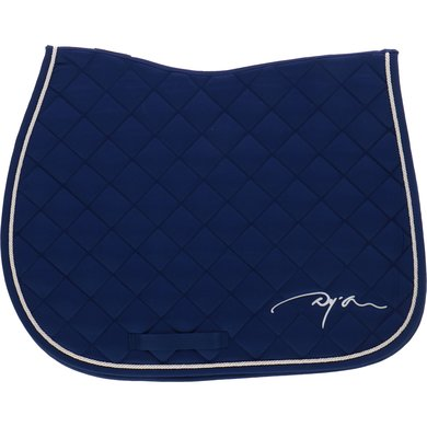 Dyon Saddlepad Embroidery Navy/cream