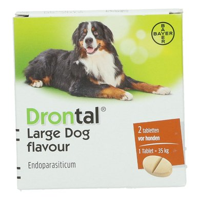 Drontal Flavour Ontwormingstablet Grote Hond 2tabl