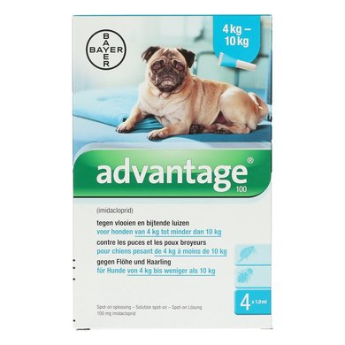 Advantage 100 Spot-on Hund 4-10kg 4 Pip