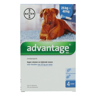 Advantage 400 Spot-On Hond 25-40kg 4 Pipetten
