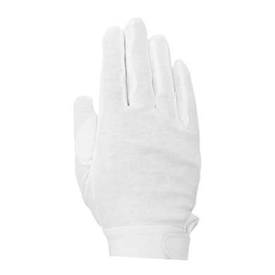 IR Handschoen Katoen met noppen Wit