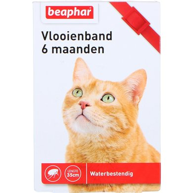 Beaphar Vlooienband kat rood 1st