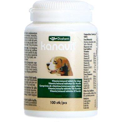 Diafarm Kanavit vitaminen & mineralen - Hond 100 tabl.