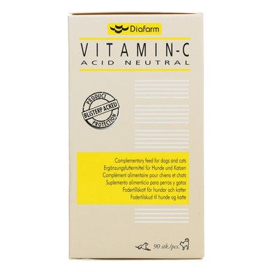 Diafarm Vitamine C tabl. - Hond & Kat 90 tabl.