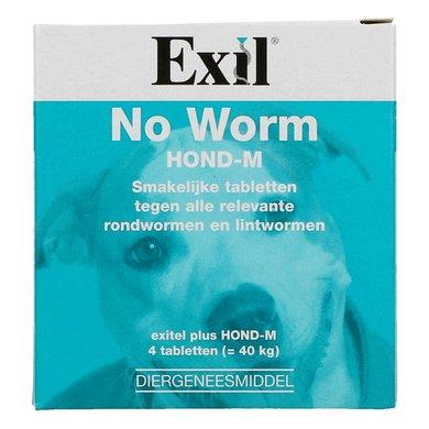 Exil No Worm Exitel Hond M 4 Tabletten