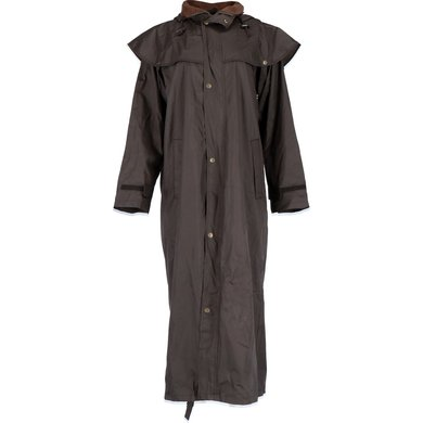 Black Roo Coat Stockman Rain Cowboy Brown