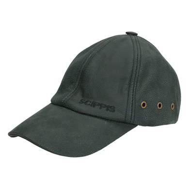 Scippis Leather Cap Zwart One Size