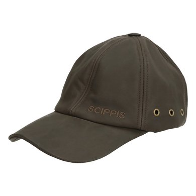 Scippis Leather Cap Bruin One Size