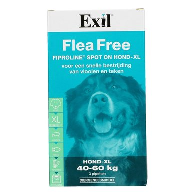 exil anti flohmittel flea free fiproline spot on 3 pipetten. Black Bedroom Furniture Sets. Home Design Ideas