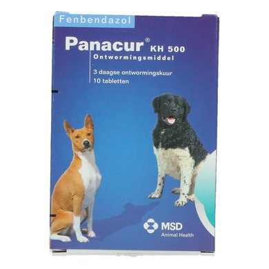 Panacur Kat Hond 500mg Hond 10 Tabletten