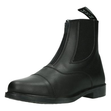 HKM Jodhpur Boots Elastic Vent + Zip Black