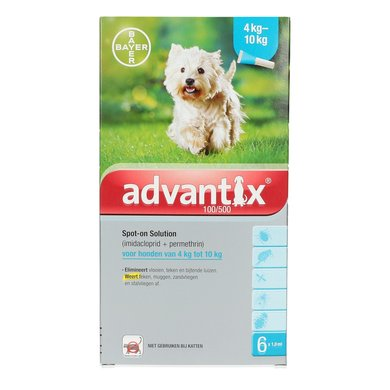 Advantix 100/500 Spot-On Hond 4-10kg 6pip