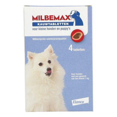 Milbemax Chewing Tablet Tasty Small Do/Puppy 4 Tablets 4 Pcs