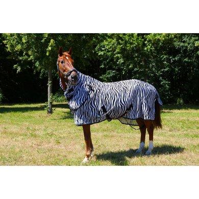 Harry's Horse Vliegendeken Zwart Losse Hals Zebra