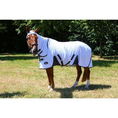 Harrys Horse Fliegendecke mit Hals Weiß