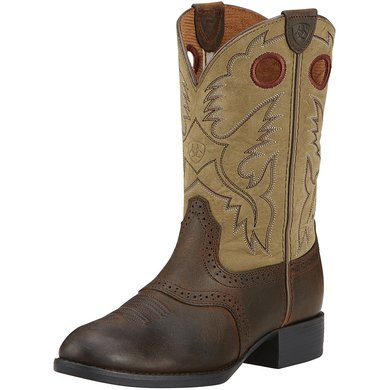 Ariat Western Heritage Stockman M Distressed Brown 34