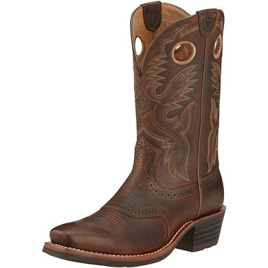 Ariat Western Hrtg Roughstock D Brown Oiled Rowdy 44