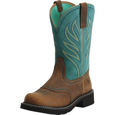 Ariat Western Probaby Flame B Distressed Brown/Turquoise 37