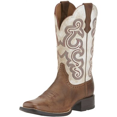 Ariat Western Quickdraw B Sandstorm / Distressed White 37