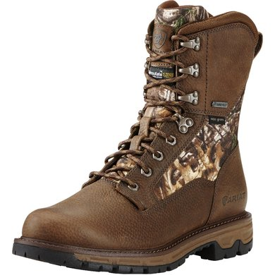 "Ariat Conquest 8"" GTX Insulated Pebbled Brown D 47"