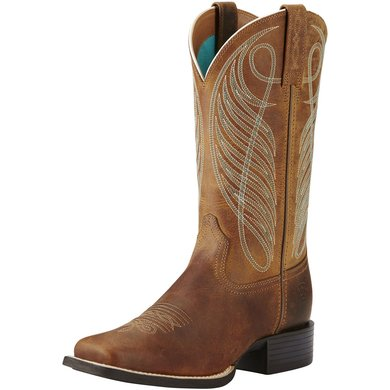 Ariat Western Round Up Wst B Powder Brown 36