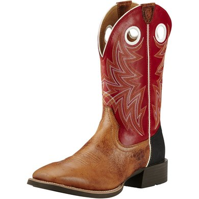 Ariat Western Heritage Cowhorse D Brown Oiled Rowdy 45