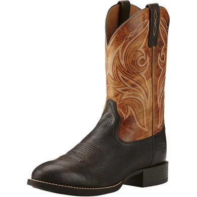 Ariat Western Cowpuncher D Iron Coffee / Two Tone Tan 46