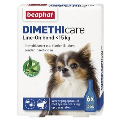 Beaphar DIMETHIcare Line-On Hond Klein <15kg 6 pipetten