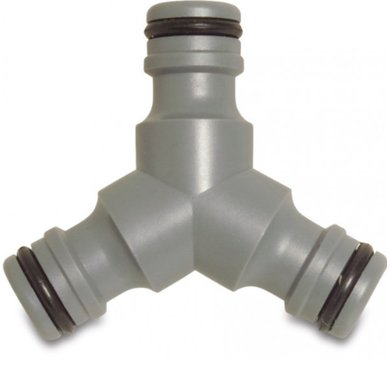 Hydro-Fit 3-weg slangkoppeling Mannelijk PVC-U