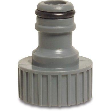 Hydro-Fit Kraanaansluiting BinnenxMannelijk Grijs