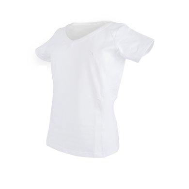 Back on Track T-shirt V-neck White
