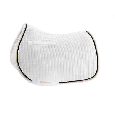Back on Track Saddle Cloth Dressage White with Piping Full