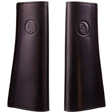 BR Stirrup Strap Covers Leather Tight Shaped per Pair Black