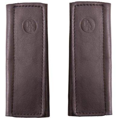 BR Fourreaux de Muserolles Cuir Souple avec Velcro Noir