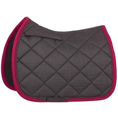 BR Saddlepad General Purpose Melange Classic Grey/pink
