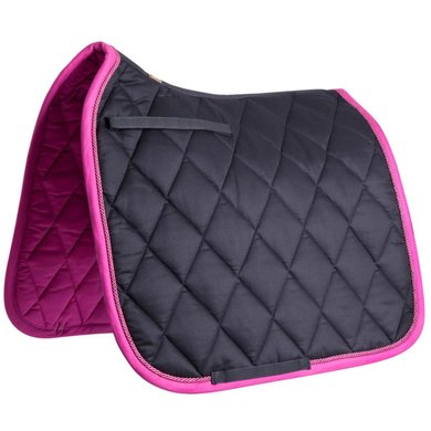 BR Saddlepad Dressage Event Luxe 400g Orchid Black Full